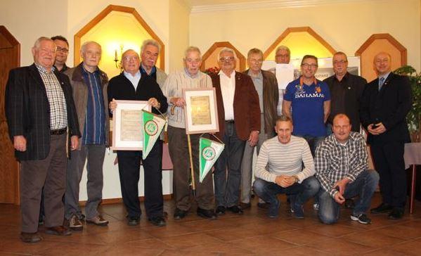 Zahlreiche Ehrungen durch Verein und Sportbund Rheinland! Hans-Werner Hoffmann und Heinrich Mötter erhielten die Ehrenmitgliedschaft!